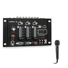 Set table de mixage DJ Mixer 3/ 2 canaux USB Ampli stéréo + micro karaoké - noir