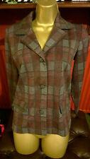 Size 10 12 vintage Gordon Wyatt of Leicester 1970s slate colours check jacket