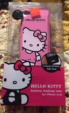 $60 NEW IN PACKAGE HELLO KITTY BATTERY BACKUP RECHARGEABLE CASE FOR iPHONE 4S/4