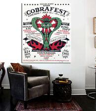 Vintage Sailor Jerry Cobrafest 24 x 20  Canvas Poster Vintage Chicago Tattoo