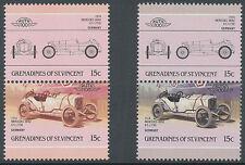 GRENADINES OF ST. VINCENT 1986 Mercedes Benz both 15 C.  U/M MISSING GREY COLOUR