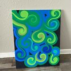 Swirl abstract painting