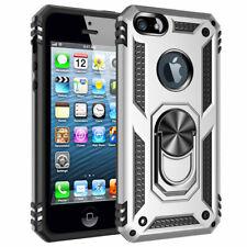 Slim Shockproof Hard Case for iPhone SE 5S 5 Magnetic Ring Holder Hybrid Cover
