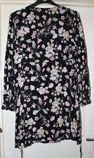 Primark Black Floral Tunic Dress, Size 16 - Lovely!