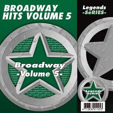 Broadway Musical Karaoke CDG CDs Broadway Musicals Legends Vol 5 NEW 3 Day Ship
