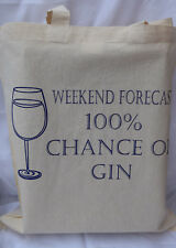 Gin  cotton Tote Bag  - ideal birthday gift / fathers day gift