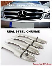 Mercedes Vito W639 Chrome Front Grill Trim +Door Handle Cover 2010-2014 S.Steel