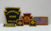 ⭐ Lot of 6 Assorted Embroidered Patches, US Flag, Coat of Arms, Police, Military