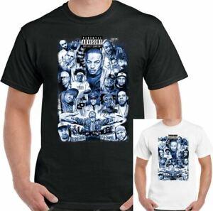 Tupac T-Shirt Hip Hop Biggie Smalls Eazy-E NWA Eminem Dr Dre Rap Collage Mens