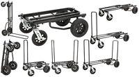 Rock N Roller R12STEALTH R12 Black 500lb Capacity DJ PA Equipment Transport Cart