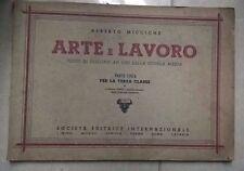 ARTE E LAVORO TESTO DI DISEGNO MICCICHE' ANNI '50 ARTE