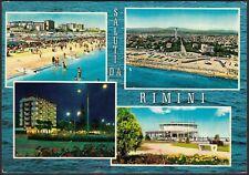 AA7771 Saluti da Rimini - Vedute - Cartolina postale - Postcard