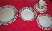 """''FLORAL''5 PIECE PLACE SETTING CHINA PEARL STONEWARE """"FLORAL #3851"""""""