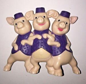 Three Little Pigs Dreamworks Shrek the Third 2007 Australian McDonald Toy Loose