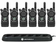 6 Motorola CLS1110 UHF Business Two-way Radios with Free Multi-Unit Charger!