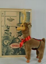 NWT Rare Robert Raikes Bear Wood Carved Tinsel Reindeer Hand-Signed/ Certificate
