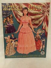 ORIGINAL Vintage Merrill 1951 American Beauty Paper Doll Book #1548 - UNCUT
