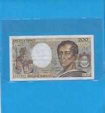 Billet 200 Francs MONTESQUIEU  Année 1981   Alphabet  X. 001 Billet 0018441363