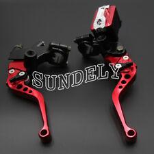"New 7/8"" 22mm CNC Motorbike Cylinder Clutch Lever Red Handlebar Hydraulic Brake"