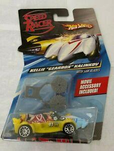 """2007 HOT WHEELS SPEED RACER KELLIE """"GEARBOX"""" KALINKOV Race Car w/Movie Accessory"""