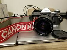 Canon AE-1 program 35mm Film Camer. With Sigma 28-80mm f 3.5-4.5 lens. TESTED!
