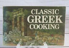CLASSIC GREEK COOKING 1974 Daphne Metaxas PB Mediterranean Cuisine Cookbook