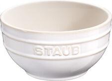 STAUB Céramique Bol de céréales à dessert à mélanger, rond blanc ivoire 12 cm