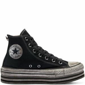 Scarpe da ginnastica nere Converse Chuck Taylor All Star per donna ...