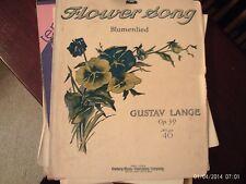 Gustav Lange: Flower Song, op 39, Piano (Century)