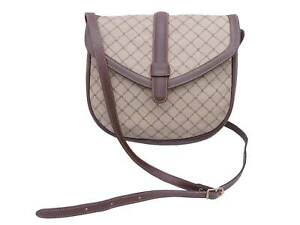 Auth BALLY Logo Shoulder Bag Beige PVC/Leather *WORN-OUT* - e47347f