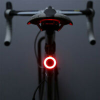 USB Rechargeable LED New Bike Rear Tail Light Bicycle Warning Safety Smart Lamp