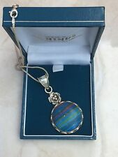 "Gorgeous Statement 16"" Marked Sterling Silver & Multi colour Stone Necklace 17g"
