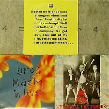 """BROS 3 x PICTURE SLEEVE 7"""" SINGLES ALL LISTED"""