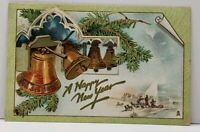 Happy New Year Tuck 1910 Seattle to Alto Wisconsin Postcard F15