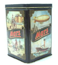 USA CANDY MARS LOVELY LITHO VINTAGE TIN CONTAINER *
