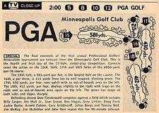1959 TV GOLF AD~PGA CHAMPIIONSHIP~BOB ROSBURG WINS~ST LOUIS PARK,MINNESOTA