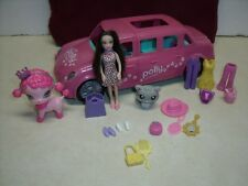 Mattel Polly Pocket Sparklin Pets Loveable Limo W/doll, pets 22 pc lot RARE