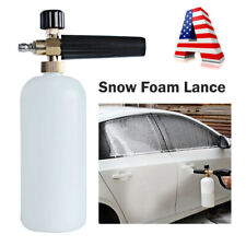 "1/4"" Snow Foam Gun Lance Pressure Washer Soap Jet Cannon Car Wash Spray Bottle"