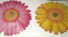 GERBER DAISY VILLAGE KIDS JUMBO WALL Stickers DECAL APPLIQUES Girls Pink Yellow