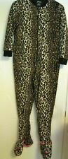 HALLOWEEN Nick Nora Leopard Cheetah Jaguar CAT Footie Cat Suit Cosplay M Pajama