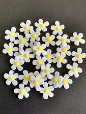 30 tiny glitter flower die cuts, craft embellishments, Card toppers, buntings.