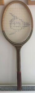 Vintage Dunlop 'Target' Wooden Tennis Racket and Press Cover