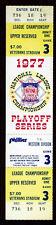 1977 NLCS GAME 3 FULL TICKET STUB  Los Angeles Dodgers vs. Philadelphia Phillies