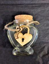 20x Custom Cut Ply Wooden Heart Lock & Key Shapes 3mm Thick Wood Craft Scrapbook