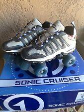 Sonic Cruiser Roller Skates Tennis Shoe Gray/White Size 5 Roller Derby U-345