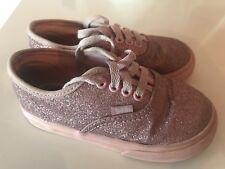 6014119e83e Girls Youth Kids VANS Toddler Pink Glitter Bling Skate Sneaker Shoes Size 8
