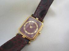 Raymond Weil DAU Damenarmbanduhr 9014-5 vergoldet Quarz bordeauxrot