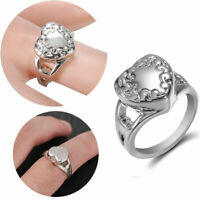 Heart Love Cremation Urn Rings Pet Memorial Ashes Ring Jewelry + Screwdriver Hot