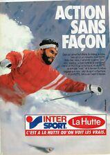 Publicité Advertising 019  1985  vetements ski La Hutte Intersport