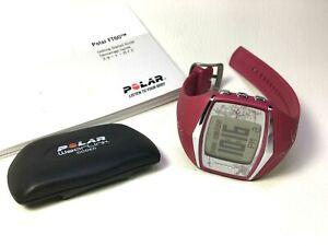 Polar FT60 Womens Heart Rate Monitor Watch & WearLink • Pink & Silver